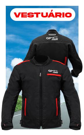 Na Paulinho Motos você encontra vestuários em geral em até 10X sem Juros